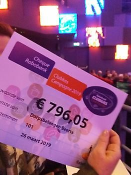 Opbrengst Rabo Clubkascampagne 2019 Dorpsbelangen Beerta